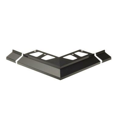 Narożnik balkonowego profilu okapowego OKAP100 Aluminium CEZAR