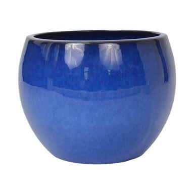 Donica ceramiczna 38 cm niebieska