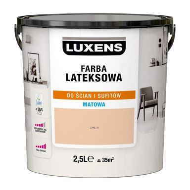 Farba wewnętrzna LATEKSOWA 2.5 l Chili 6 LUXENS