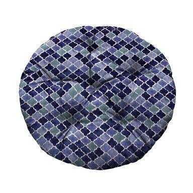 Poduszka okrągła Brasil Jose niebieska śr. 65 cm