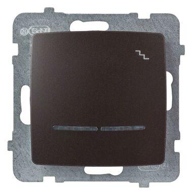 Włącznik schodowy z podświetleniem KARO  czekoladowy  OSPEL