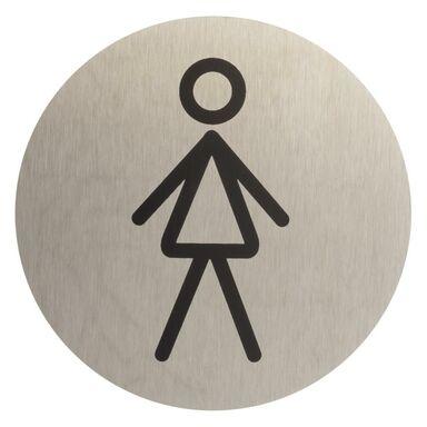 Znak informacyjny WC DAMSKIE STAL NIERDZEWNA