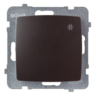 Włącznik krzyżowy KARO  czekoladowy  OSPEL