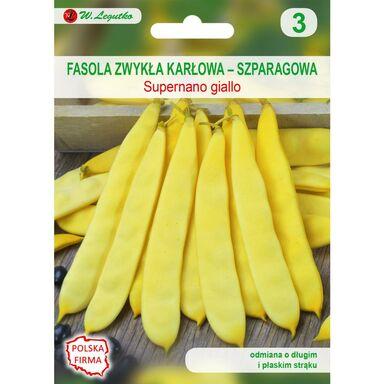 Nasiona warzyw SUPERNANO GIALLO Fasola zwykła karłowa W. LEGUTKO