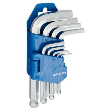 Zestaw kluczy imbusowych HEX 1.5-10 mm DEXTER