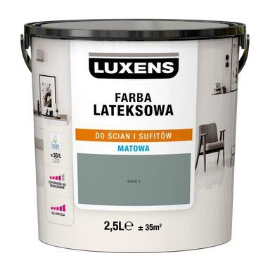 Farba wewnętrzna LATEKSOWA 2.5 l Sage 3 LUXENS