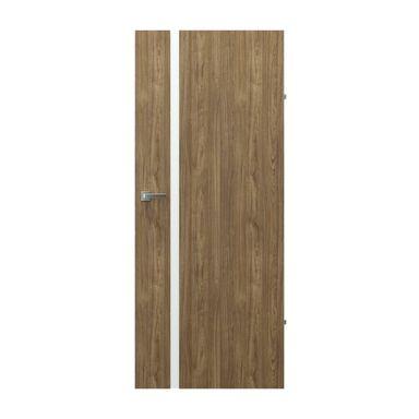 Skrzydło drzwiowe pełne bezprzylgowe Focus 4A Orzech naturalny 70 Prawe Porta