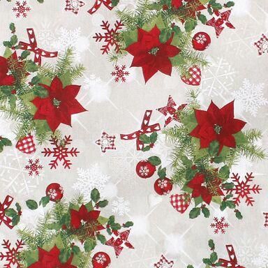 Tkanina świąteczna na mb X-Mas Decor czerwona szer. 140 cm