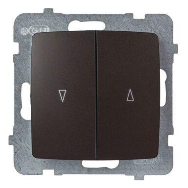 Włącznik żaluzjowy KARO  czekoladowy  OSPEL