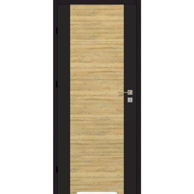 Skrzydło drzwiowe z podcięciem wentylacyjnym Dual Czarny mat/Dąb bawarski 90 Lewe Artens