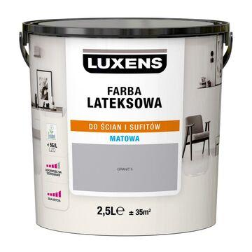 Farba wewnętrzna LATEKSOWA 2.5 l Granit 5 LUXENS