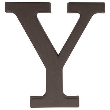 Litera Y wys. 9 cm PVC brązowa