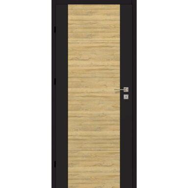 Skrzydło drzwiowe pełne DUAL Czarny mat/Dąb bawarski 70 Lewe ARTENS