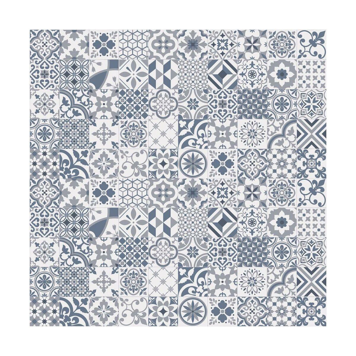 Wykladzina Pcv Feelings Algrave Niebieska Mozaika 3 M Wykladziny Pcv W Atrakcyjnej Cenie W Sklepach Leroy Merlin