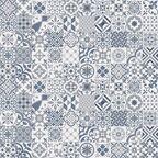 Wykładzina PCV FEELINGS ALGRAVE niebieska mozaika 3 m