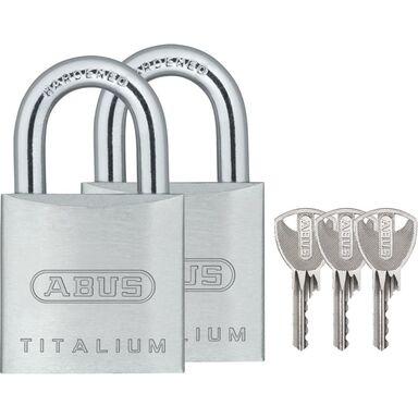 Kłódka pałąkowa TITALIUM 727TI/20 TWINS ABUS