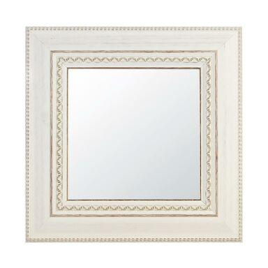 Lustro kwadratowe 970763 białe 30 x 30 cm w drewnianej ramie