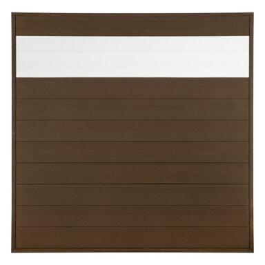 Płot kompozytowy 173x173 cm brązowy WPC WINFLOOR