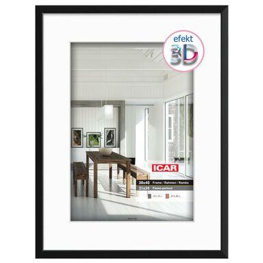 Ramka na zdjęcia EFEKT 3D 21 x 30 cm czarna drewniana