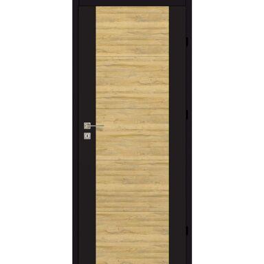 Skrzydło drzwiowe pełne Dual Czarny mat/Dąb bawarski 90 Prawe Artens