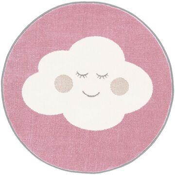 Dywan dziecięcy Cloud różowy okrągły śr. 80 cm