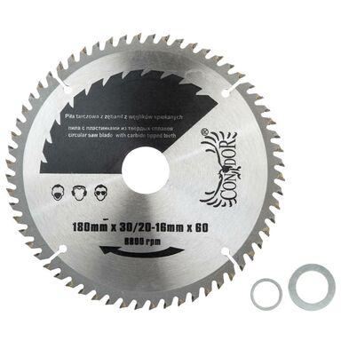 Tarcza do pilarki tarczowej CON-TCT-18X60  180 mm zęby: 60 szt. CONDOR