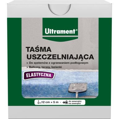 Taśma uszczelniająca elastyczna 12 cm/5 mb Ultrament