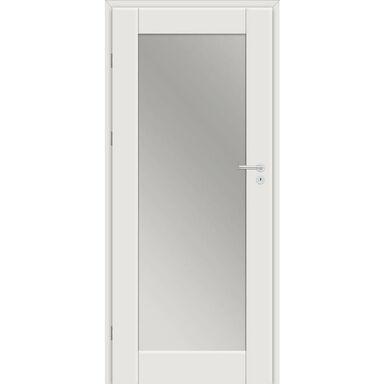 Skrzydło drzwiowe Dela z lustrem od wewnętrznej strony Biel arktyczna 70 Lewe Classen