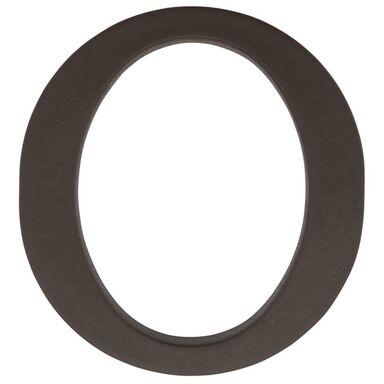 Litera O wys. 9 cm PVC brązowa