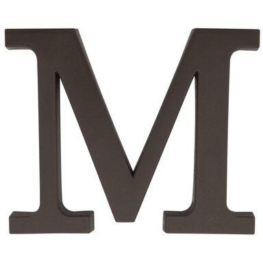Litera M wys. 9 cm PVC brązowa