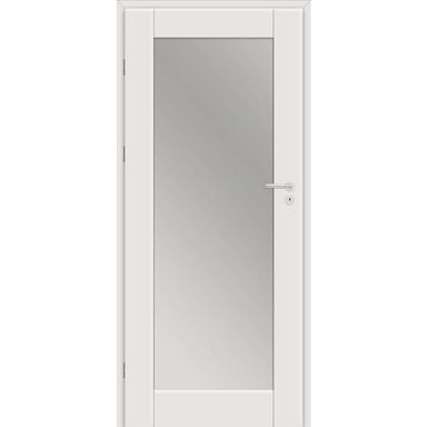 Skrzydło drzwiowe Dela z lustrem od wewnętrznej strony Biel arktyczna 90 Lewe Classen