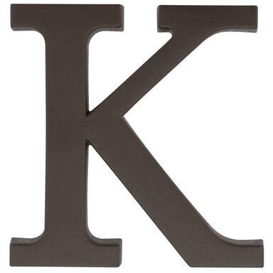 Litera K wys. 9 cm PVC brązowa