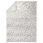 Pled GINKGO biało-złoty 150 x 200 cm
