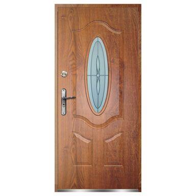 Drzwi zewnętrzne stalowe FLORENCJA Złoty dąb 90 Prawe OK DOORS TRENDLINE