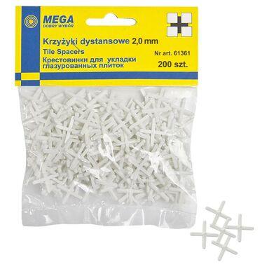Krzyżyki 2,0 MM 200 SZT MEGA