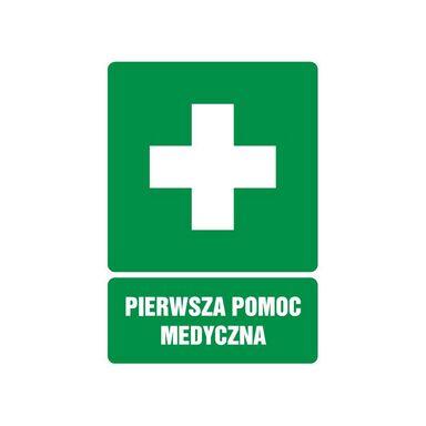 Znak informacyjny APTECZKA 14.8 x 10.5 cm