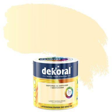 Farba wewnętrzna AKRYLIT W 2.5 l Lody waniliowe DEKORAL
