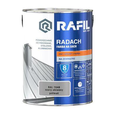 Farba na dach RADACH 5 l RAL-7040 Szary okienny RAFIL