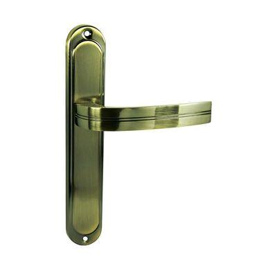Klamka drzwiowa z długim szyldem DEKAN Brąz graffiato DOMINO