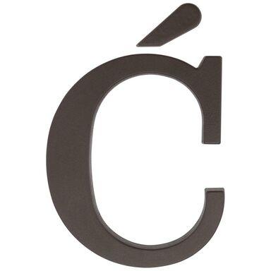 Litera Ć wys. 9 cm PVC brązowa