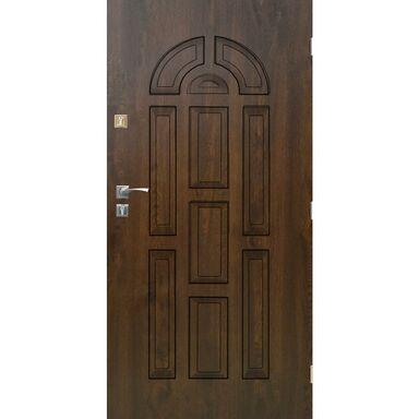 Drzwi zewnętrzne stalowe VALENCIA Orzech 90 Prawe SEDRO