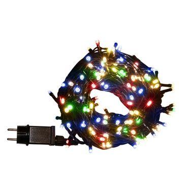 Lampki choinkowe zewnętrzne 14.95 m 200 LED multikolor z gniazdem