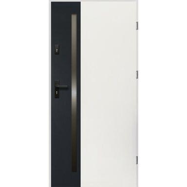 Drzwi zewnętrzne stalowe Arteo białe 90 Prawe OK Doors Trendline