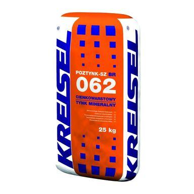 Tynk mineralny cienkowarstwowy POZTYNK-SZ 062 25 kg KREISEL