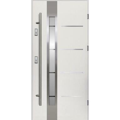Drzwi zewnętrzne stalowe z antabą Adriana Białe 90 Prawe OK Doors Trendline