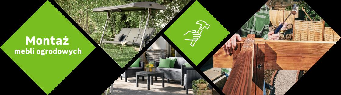 Montaż mebli ogrodowych, huśtawek, pawilonów