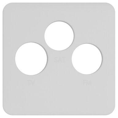 Plakietka do gniazda RTV / SAT  biały mat  LEXMAN