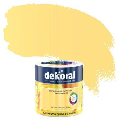 Farba wewnętrzna AKRYLIT W 2.5 l Żółty słoneczny DEKORAL