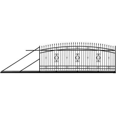 Brama przesuwna VERONA 400 x 140 cm lewa POLBRAM