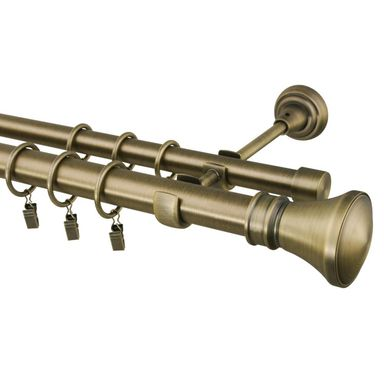 Karnisz Colosseo 240 cm podwójny mosiądz 25/19 mm